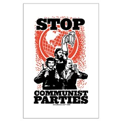 Stop Communist Parties! Large Poster