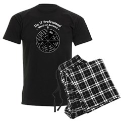 IT Wheel of Answers Men's Dark Pajamas