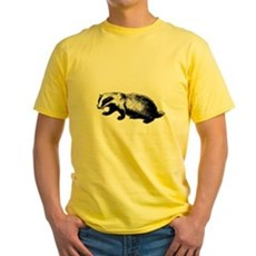 Honey Badger Doesn't Care Yellow T-Shirt