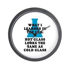 Lab Glass Wall Clock
