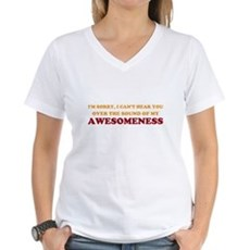 Sound of Awesomeness Womens V-Neck T-Shirt