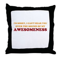 Sound of Awesomeness Throw Pillow