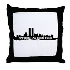 9-11 Justice Has Been Done Throw Pillow