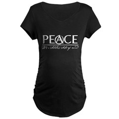 Peace Maternity Dark T-Shirt