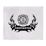Fire Dept Tattoos Stadium Blanket