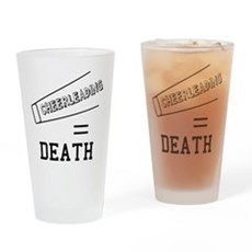 Cheerleading Equals Death Pint Glass