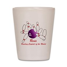 Reno Bowling Capital Shot Glass