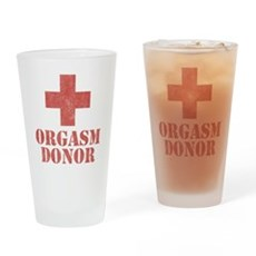 Orgasm Donor Pint Glass