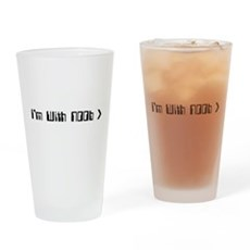 I'm With Noob Pint Glass