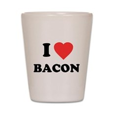 I Love Bacon Shot Glass