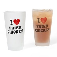 I Love [Heart] Fried Chicken Pint Glass