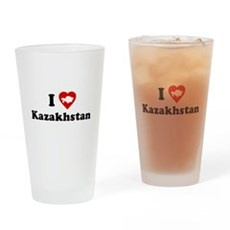 I Love [Heart] Kazakhstan Pint Glass