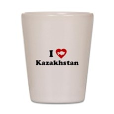 I Love [Heart] Kazakhstan Shot Glass