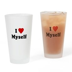 I Love [Heart] Myself Pint Glass