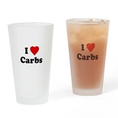 I Love [Heart] Carbs Pint Glass