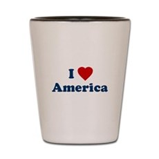 I Love [Heart] America Shot Glass