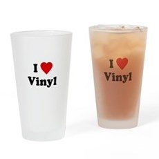 I Love Vinyl Pint Glass