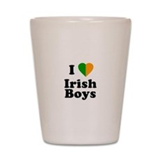 I Love Irish Boys Shot Glass