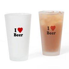 I Love [Heart] Beer Pint Glass