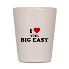 I Love [Heart] the Big Easy Shot Glass