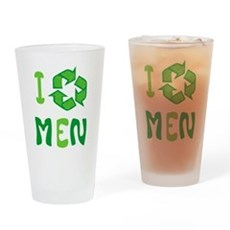 I Recycle Men Pint Glass