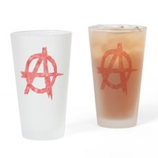 Vintage Anarachy Symbol Pint Glass