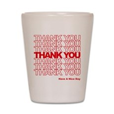 Thank You Bag Shot Glass