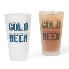 Cold Beer Pint Glass