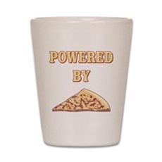 Powered By Pizza Shot Glass
