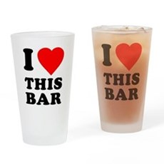 I Love This Bar Pint Glass