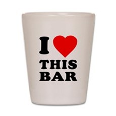 I Love This Bar Shot Glass