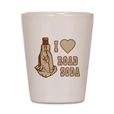 I Love Road Soda Shot Glass