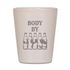 Body By Beer Shot Glass
