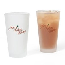 Merry Fucking Christmas Pint Glass