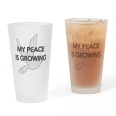 My Peace Is Growing Pint Glass