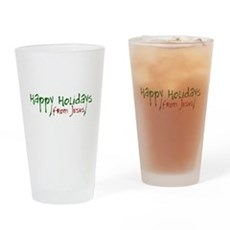 Happy Holidays from Jesus Pint Glass