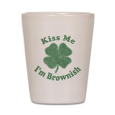 Kiss Me I'm Brownish Shot Glass