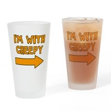 I'm With Creepy Pint Glass