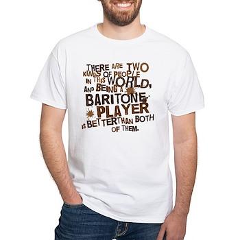 Baritone Player (Funny) Gift White T-Shirt