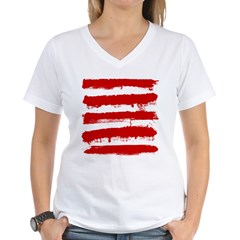 Rebel Stripes Women's V-Neck T-Shirt