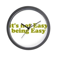 It's not easy being easy Wall Clock