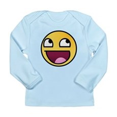 Awesome Smiley Long Sleeve Infant T-Shirt