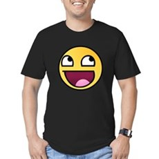 Awesome Smiley Mens Fitted Dark T-Shirt