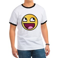 Awesome Smiley Ringer T