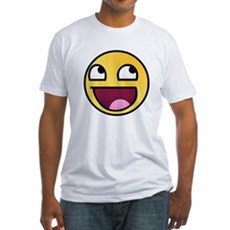 Awesome Smiley Fitted T-Shirt