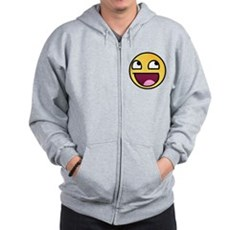 Awesome Smiley Zip Hoodie