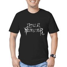Little Monster Mens Fitted Dark T-Shirt