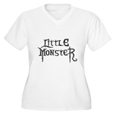 Little Monster Plus Size V-Neck Shirt