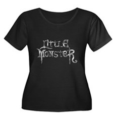 Little Monster Womens Plus Size Scoop Neck Dark T