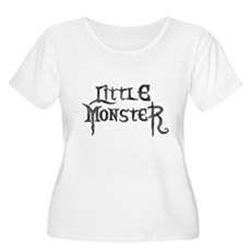Little Monster Womens Plus Size Scoop Neck T-Shir